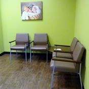 Classic Twill Espresso Healthcare Vinyl with Silver Frame, Walnut Arm Caps and Walnut Tables