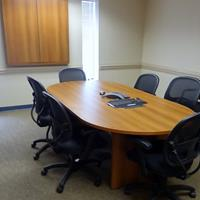 - Global Total Office Zira boardroom table & visual board - Avant Honey