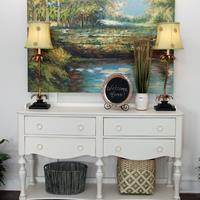 - Denver Furniture Riverside Placid Cove Server in Honeysuckle White