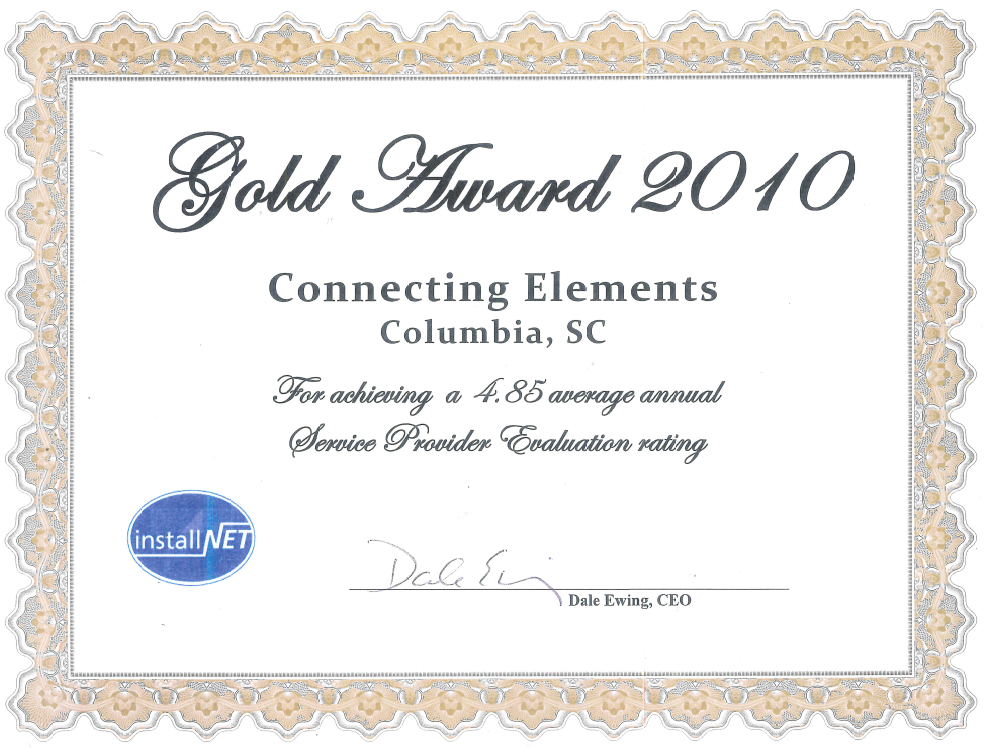Installnet 2011 Gold Award Connecting Elements