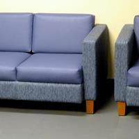 - Global Total Office Citi Sofa and Chairs - Blue Ribbon & Old Glory fabrics