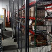 - WireCrafters wire partitions with locking door in Gray